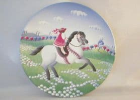 Poole Pottery Transfer Plate, Girl on a Horse