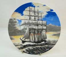 Poole Pottery Transfer Plate, Howard D. Troop - A Four Masted Barque