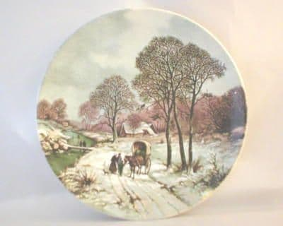 Poole Pottery Transfer Plate, Landscape in Winter After Painting by B.C.KOEKKOEK