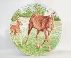 Poole Pottery Transfer Plate, Pony and Foal (3)