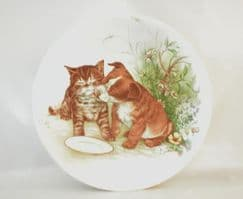 Poole Pottery Transfer Plate, Puppy and Kitten