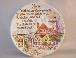 """Poole Pottery Transfer Plate, Sampler Series, """"Home"""