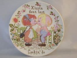 Poole Pottery Transfer Plate, Sampler Series, Kissin Dont Last, Cookin' Do
