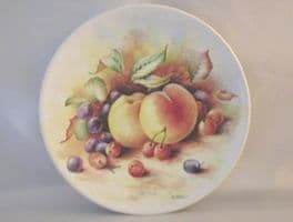 Poole Pottery Transfer Plate, Still Life Fruit by D.Wallace