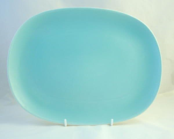 Poole Pottery Twintone Ice Green Rectangular Platter (Large)