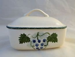 Poole Pottery Vineyard Lidded Butter Dishes
