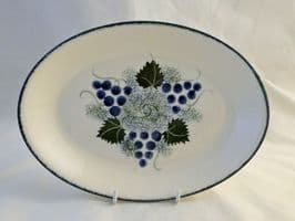 Poole Pottery Vineyard Small Oval Platters/Plates