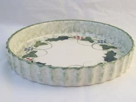 Poole Pottery Winter Vine Flan Dishes