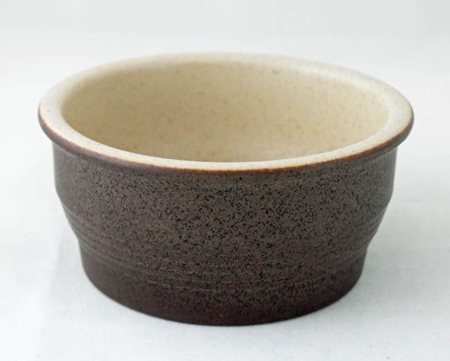 Purbeck Pottery Brown Diamond Cereal/Soup Bowls