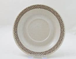 Purbeck Pottery Brown Diamond Saucers