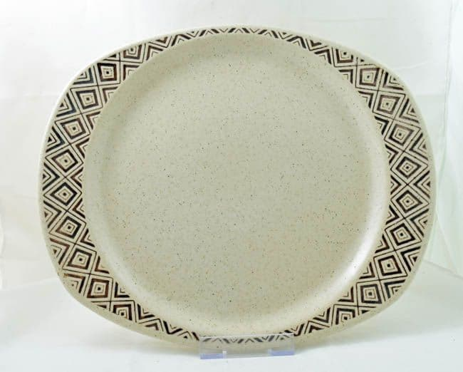 Purbeck Pottery Brown Diamond Serving Platters