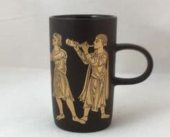 Purbeck Pottery, Medieval Scenes Beakers, Troubadours