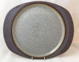 Purbeck Pottery, Portland Pattern, Oval Steak Plates, More Marking than We Usually Offer.