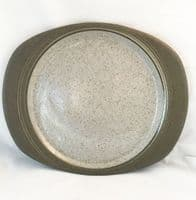 Purbeck Pottery Studland Oval Steak Plates,  Surface Marking