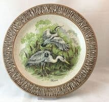 Purbeck Pottery Wildlife Decorative Plates, Herons