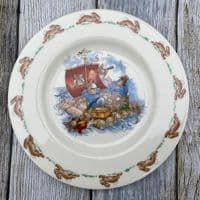 Royal Doulton Bunnykins Tea Plate, On a Raft