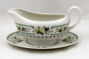 Royal Doulton Provencal (TC 1034) Gravy Boat and Stand (Seconds)