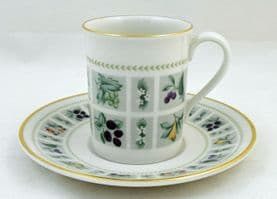 Royal Doulton Tapestry (TC 1024) Demi-tasse Coffee Cups and Saucers