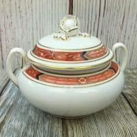 Royal Worcester Beaufort (Rust) Lidded Sugar Pot