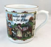 Royal Worcester, Days of the Week, Birthday Mugs, Monday.