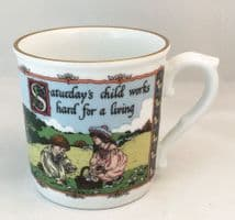 Royal Worcester, Days of the Week, Birthday Mugs, Saturday
