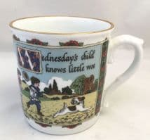 Royal Worcester, Days of the Week, Birthday Mugs, Wednesday