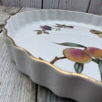 "Royal Worcester Evesham Gold 10.5"" Flan Dish"