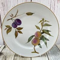 "Royal Worcester Evesham Gold Dinner Plate, 10"" (Slightly Raised Rim)"