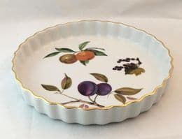 Royal Worcester Evesham (Gold) Flan Dish