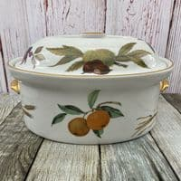 Royal Worcester Evesham Gold Large Casserole Dish (Oval)