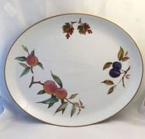 Royal Worcester Evesham (Gold) Large Oval Serving Platters, Second Quality.