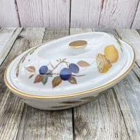 Royal Worcester Evesham Gold Lidded Serving Dish (Oval)