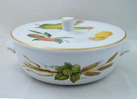 Royal Worcester Evesham (Gold) Medium Sized Lidded Serving Dishes