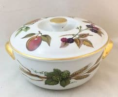Royal Worcester Evesham (Gold) Mid Sized Lidded Serving Dish (Second Quality)