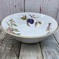 Royal Worcester Evesham Gold Open Serving Bowl (Plum/Blackberry/Peach)