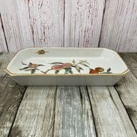 Royal Worcester Evesham Gold Rectangular Open Serving Dish (Shaved Corners), 13.75""