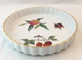 Royal Worcester Evesham (Gold) Small Flan Dish