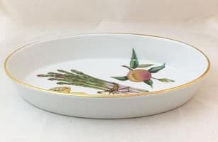 Royal Worcester Evesham (Gold) Smaller Oval Open Serving Dish