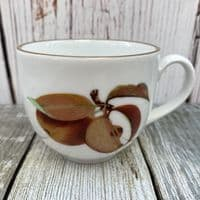 Royal Worcester Evesham Gold Tea Cup (Apple/Plum) - Gold in Middle of Handle