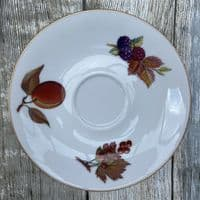 Royal Worcester Evesham Gold Tea Saucer (Blackberry/Redcurrant/Peach)