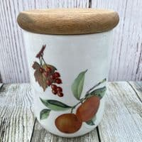Royal Worcester Evesham Storage Jar (With Wooden Lid)