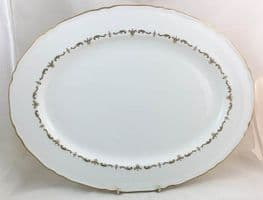 Royal Worcester Gold Chantilly Large Oval Serving Platters