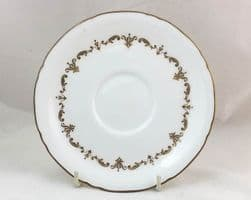 Royal Worcester Gold Chantilly Soup Cup Saucers