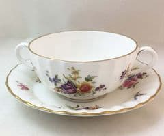Royal Worcester Roanoke White, Soup Cups and Saucers