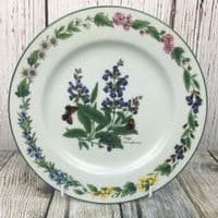 "Royal Worcester, Worcester Herbs  Salad/Breakfast Plate, 8.25"" (Made in England)"