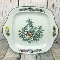 Royal Worcester, Worcester Herbs  Square Cake Plate (Made in England)