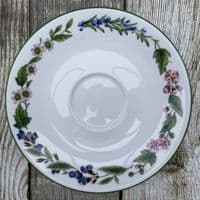 Royal Worcester, Worcester Herbs Tea Saucer (Made in England)