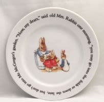 Wedgwood, Beatrix Potter, Peter Rabbit Tea Plates, Now my dears