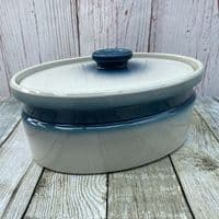 Wedgwood Blue Pacific Lidded Oval Serving Dish, 4 Pints
