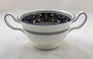 Wedgwood Navy Florentine Soup Cups